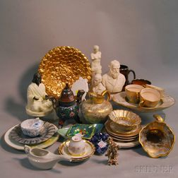 Thirty-four Assorted Ceramic and Cloisonne Items