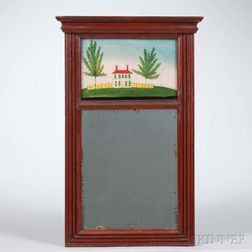 Red-painted Picture Mirror