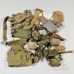 Group of WWII Web Gear and Equipment