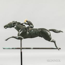 Molded Copper and Horse and Jockey Weathervane
