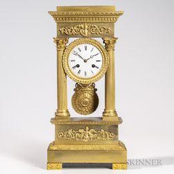 Gilt-bronze Portico Clock
