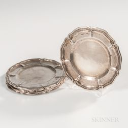 Six Spanish Colonial Silver Plates