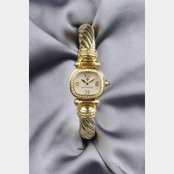 Lady's 18kt Gold and Diamond Wristwatch, David Yurman