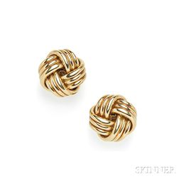 18kt Gold Earclips, Tiffany & Co.