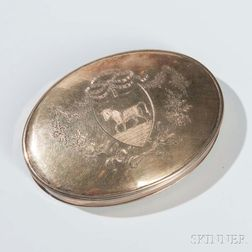 George III Sterling Silver-gilt Seal (Skippet) Box