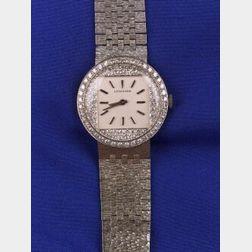 14kt White Gold and Diamond Wristwatch