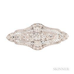 Art Deco Platinum and Diamond Brooch, Tiffany & Co.