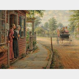Edward Lamson Henry (American, 1841-1919)      Gossips