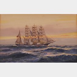 "British School, 19th/20th Century      The Clipper Ship ""The Routenburn"""