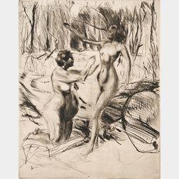Jacques Villon (French, 1875-1963)      Dans la forêt