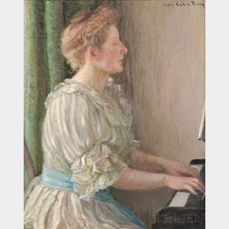 Lilla Cabot Perry (American, 1848-1933)      Portrait of the Hon Lady Bellingham
