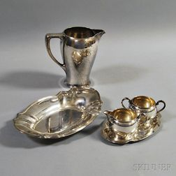 Five Pieces Sterling Silver Tableware