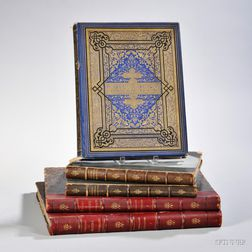 19th Century Plates Books, Three Titles in Five Volumes.