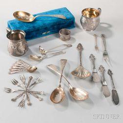 Group of American Silver Tableware