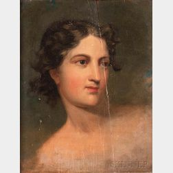Attributed to Thomas Sully (American, 1783-1872)      Head of a Woman/A Study