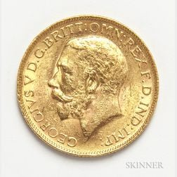 1926-SA British Gold Sovereign.     Estimate $200-300