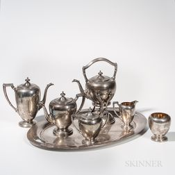 Seven-piece Cartier Sterling Silver Tea and Coffee Service