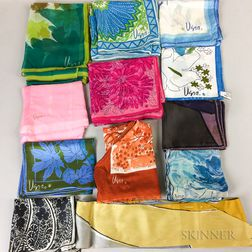 Twelve Vera Silk Scarves
