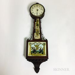"""Bigelow, Kennard & Co. Reverse-painted Mahogany """"Patent"""" Timepiece"""
