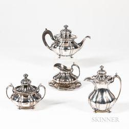 Pairpoint Five-piece Quadruple Plate Silver Tea Service