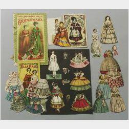 Seven Cut McLoughlin Paper Dolls