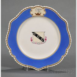 Chamberlain's Worcester Porcelain Armorial Decorated Plate
