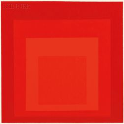 Hannes Beckmann (German/American, 1909-1976/77)      Silent Center (Hommage to Josef Albers)
