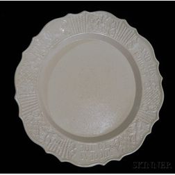 Staffordshire Salt-glazed Stoneware Plate