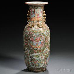Chinese Export Porcelain Rose Mandarin Vase