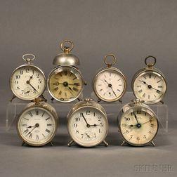 Seven Desk and Alarm Clocks
