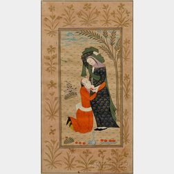 Miniature Painting Depicting Lovers