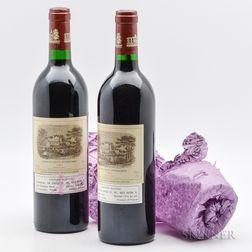 Chateau Lafite Rothschild 1986, 2 bottles