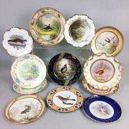 Twelve Porcelain Animal Plates