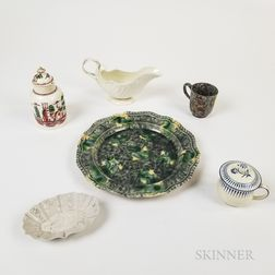 Six Early English Pottery Items