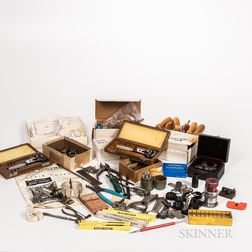 Collection of Watchmaker's and Clockmaker's Tools