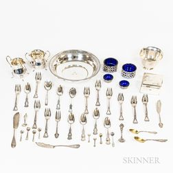 Group of Sterling Silver and Coin Silver Tableware
