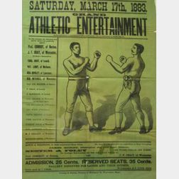1883 Worcester, Massachusetts Boxing Broadside
