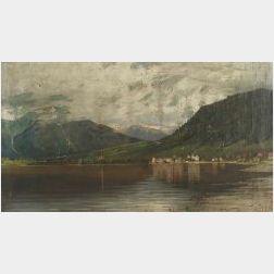 Eilert Mehl (Norwegian, 19th/20th Century)  Mountain Landscape