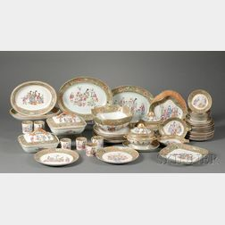 Rose Mandarin Porcelain Partial Dinner Service