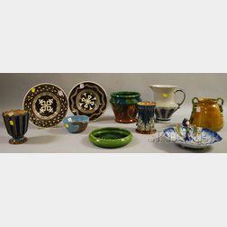 Ten Pieces of Miscellaneous Ceramics