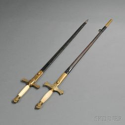 Two Militia Swords