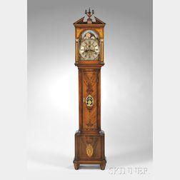 Mahogany and Mahogany Veneer Longcase Clock