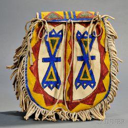 Lakota Polychrome U-shaped Parfleche