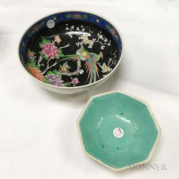 Two Chinese Glazed Ceramic Bowls