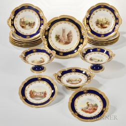 Thirty-three-piece Porcelain Hand-painted Luncheon Service