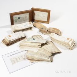 Collection of 19th Century Bank Checks from W. & L.E. Gurley Company