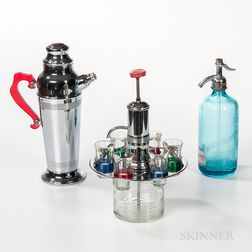 Modern Cocktail Shaker and Cordial Set