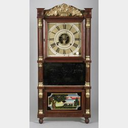 Classical Mahogany and Gilt Gesso Mantel Clock