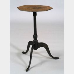 Birch Black Painted Candlestand