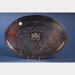 George III Silver Platter Strainer